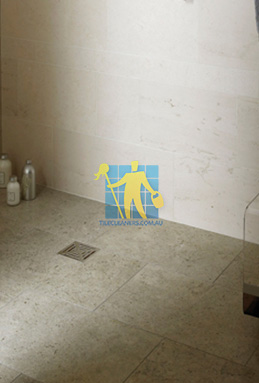 limestone tiles shower moleanos blue melbourne cleaning