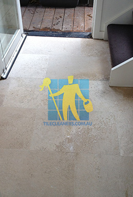 sandstone tile cleaning indoors