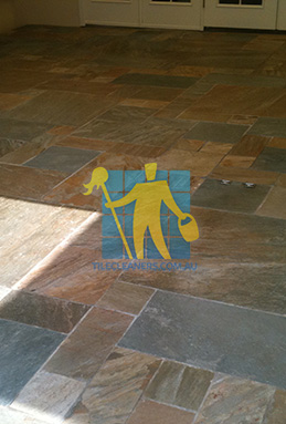 clean slate tiles unsealed after stripping and cleaning melbourne cleaning